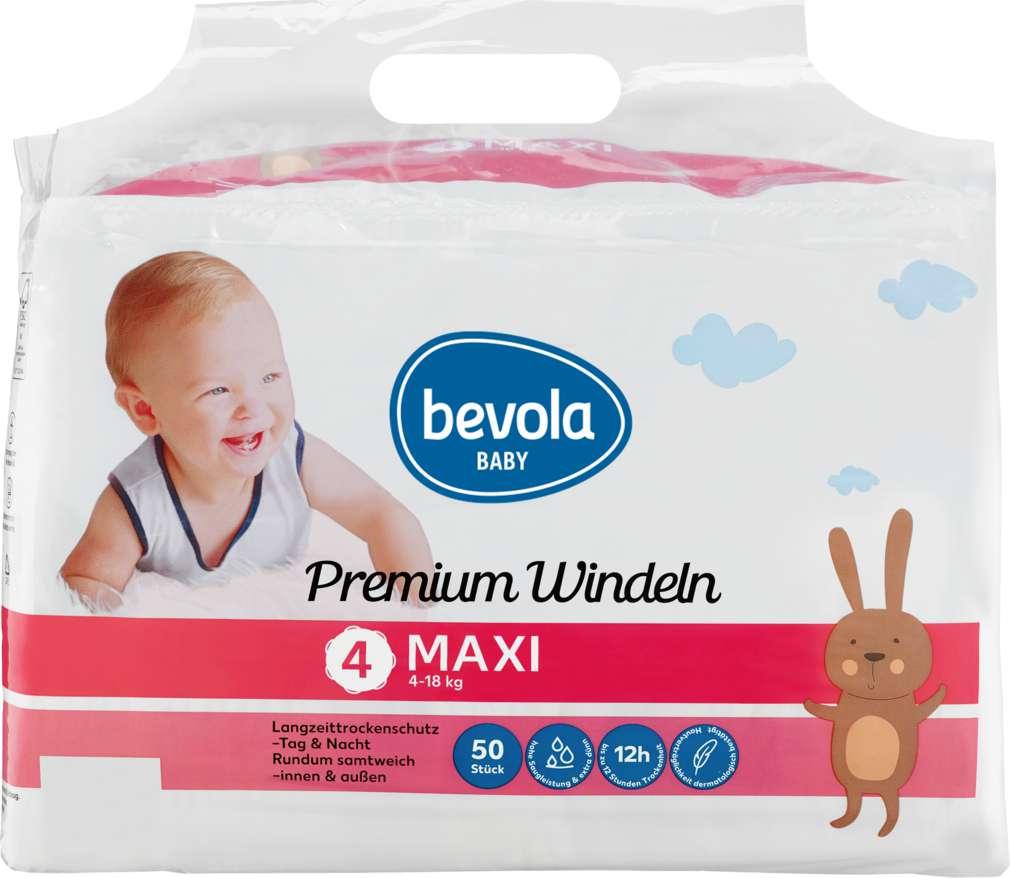 Abbildung des Sortimentsartikels Bevola Windeln Maxi 50 Stück