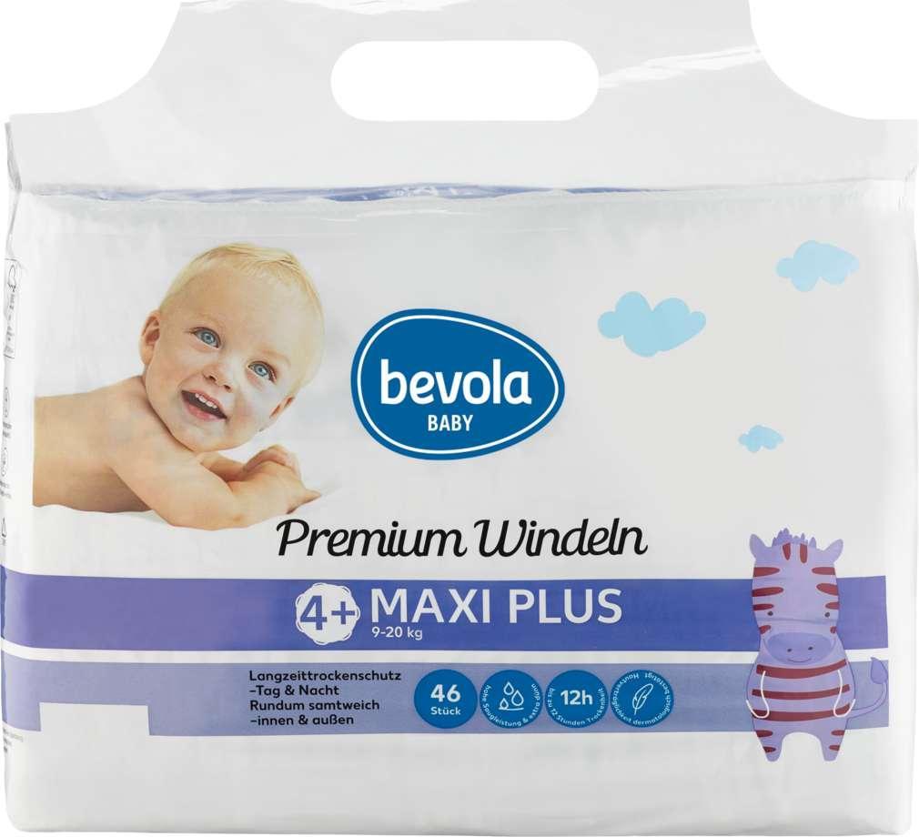 Abbildung des Sortimentsartikels Bevola Baby Windeln Maxi Plus 46 Stück