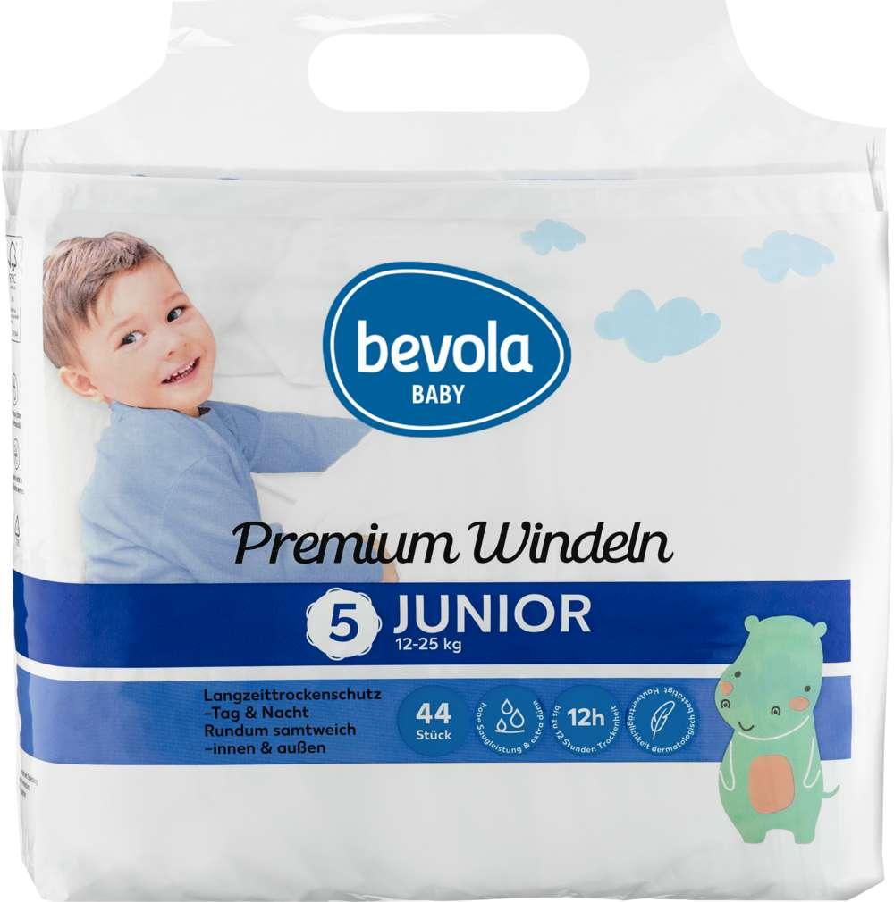 Abbildung des Sortimentsartikels Bevola Windeln Junior 12-25kg 44 Stück