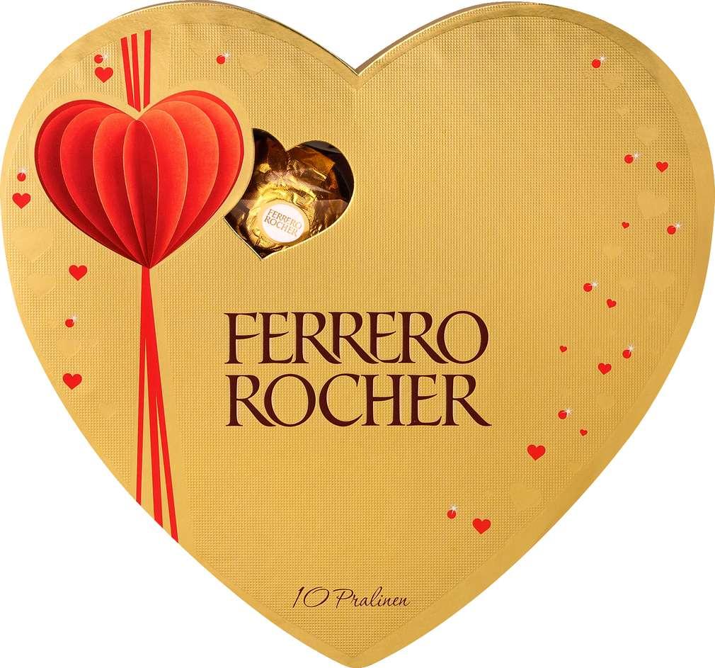 Abbildung des Sortimentsartikels Ferrero Rocher Herz 125g