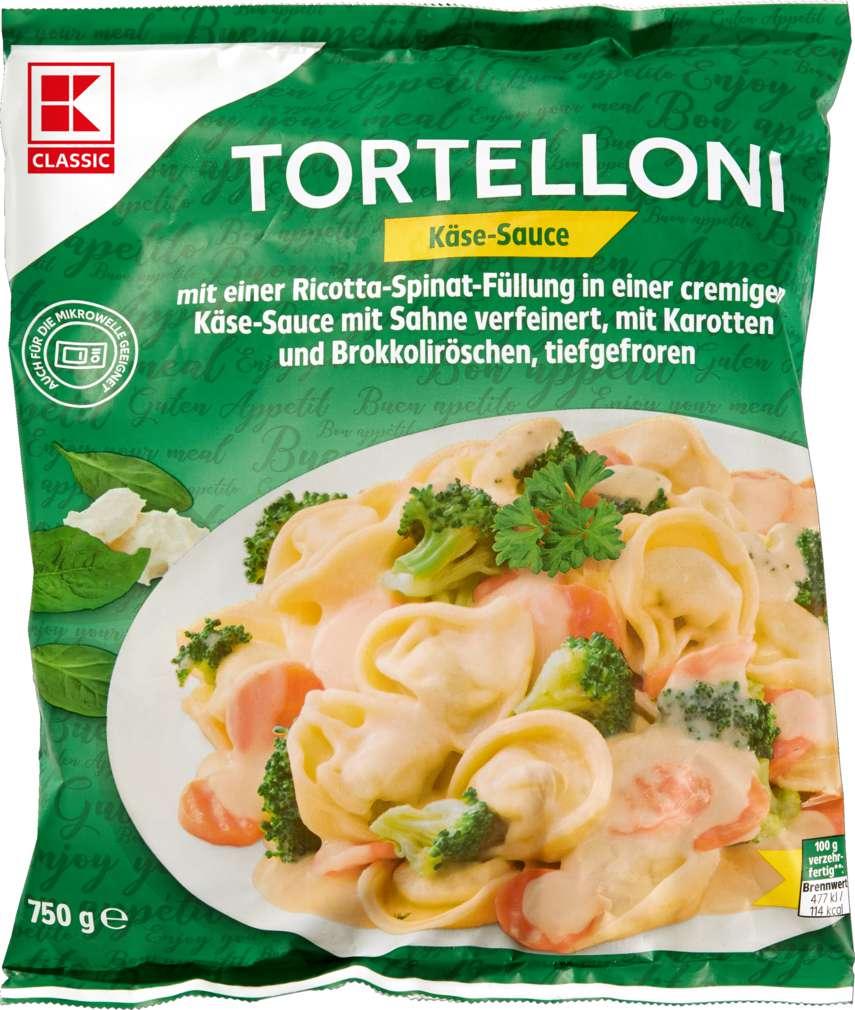 Abbildung des Sortimentsartikels K-Classic Tortelloni in Käse-Sahne-Sauce 750g