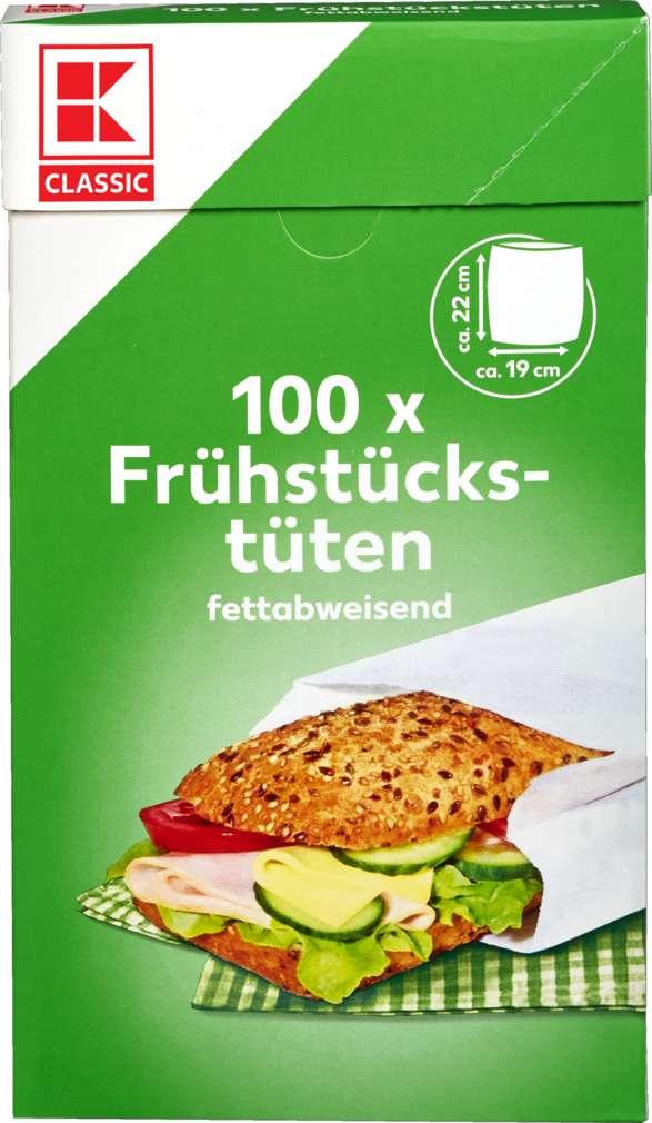 Abbildung des Sortimentsartikels K-Classic Frühstückstüten 19x22cm 100 Stück