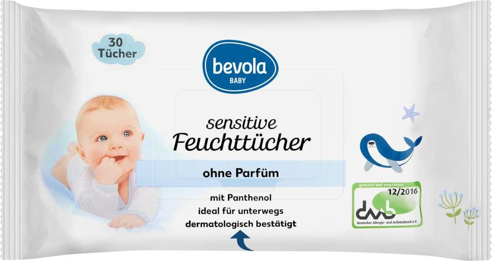 Abbildung des Sortimentsartikels Bevola Baby Feuchttücher Sensitive 30 Stück