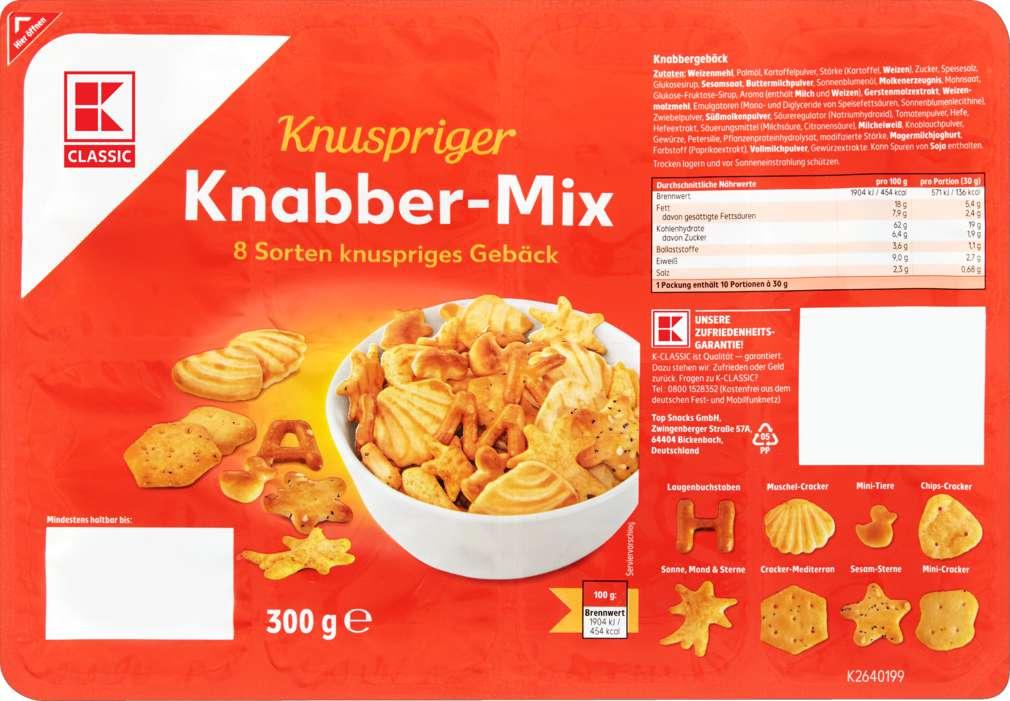 Abbildung des Sortimentsartikels K-Classic Knabber-Mischung 8-fach sortiert 300g