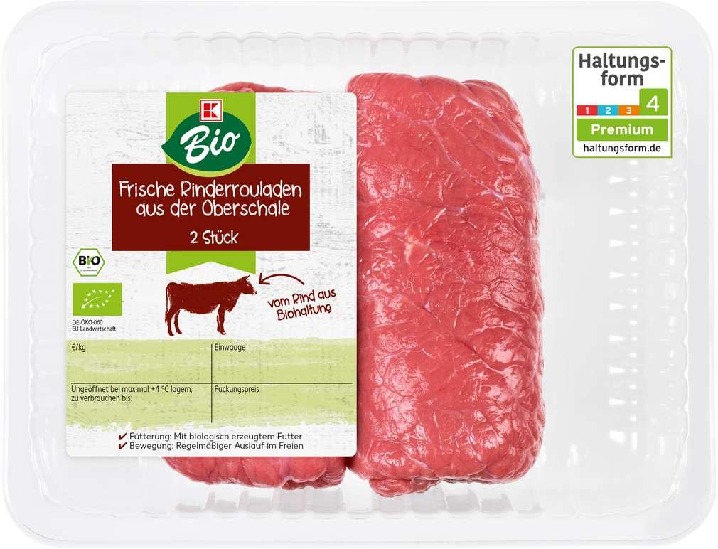 Abbildung des Sortimentsartikels K-Bio Bio Rinderrouladen a.d. Oberschale