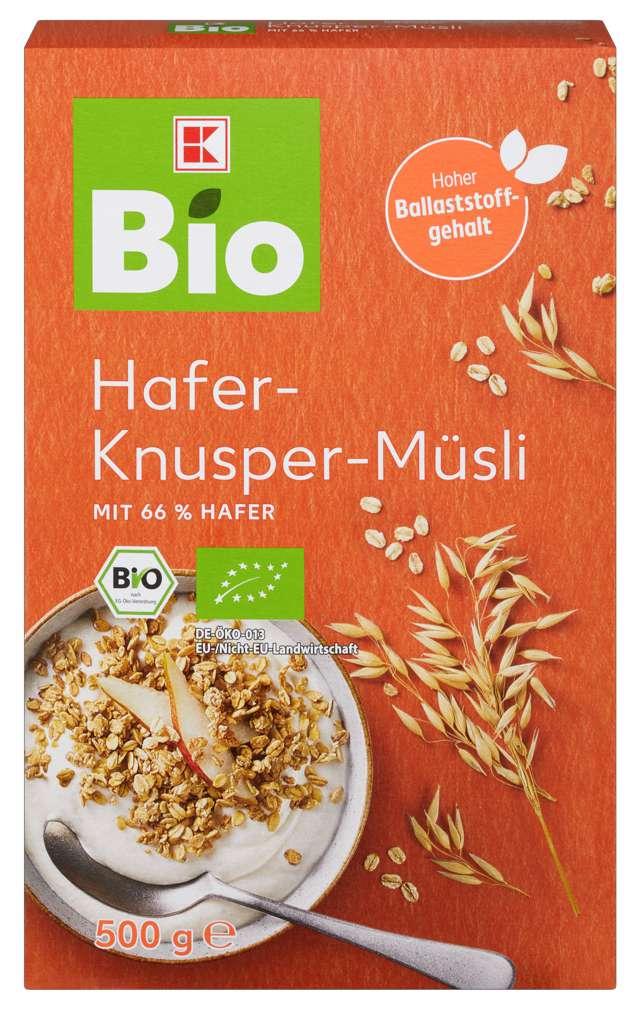 Abbildung des Sortimentsartikels K-Bio Knusper-Müsli Hafer 500g
