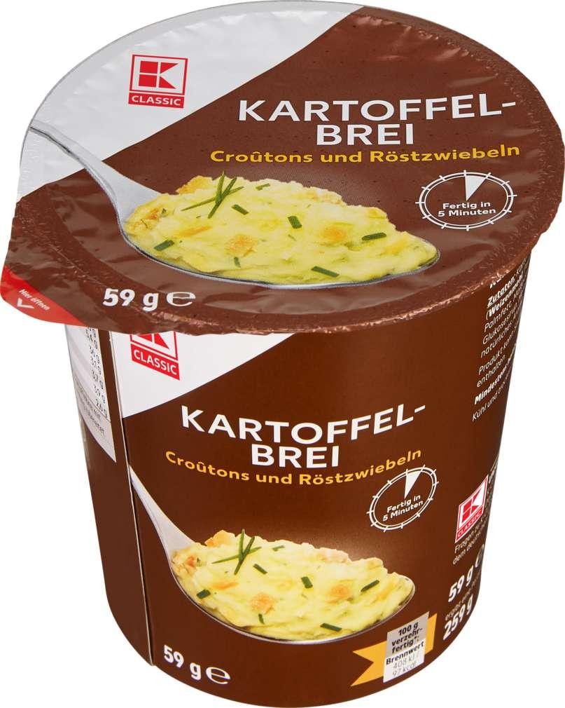 Abbildung des Sortimentsartikels K-Classic Schnelle Mahlzeit Kartoffelbrei Croutons & Röstzwiebel 59g