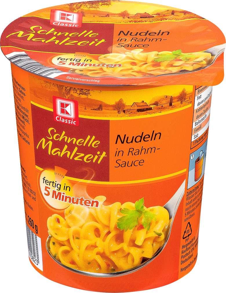 Abbildung des Sortimentsartikels K-Classic Schnelle Mahlzeit Nudeln in Rahmsauce 60g