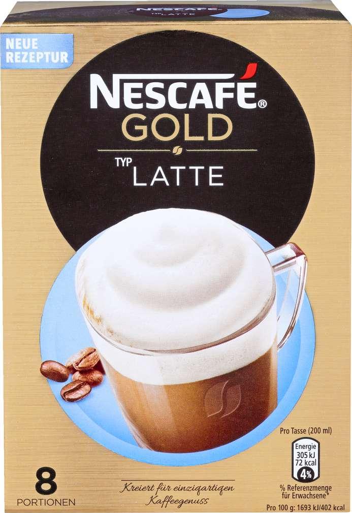 Abbildung des Sortimentsartikels Nescafé Gold Latte 144g, 8 Portionen