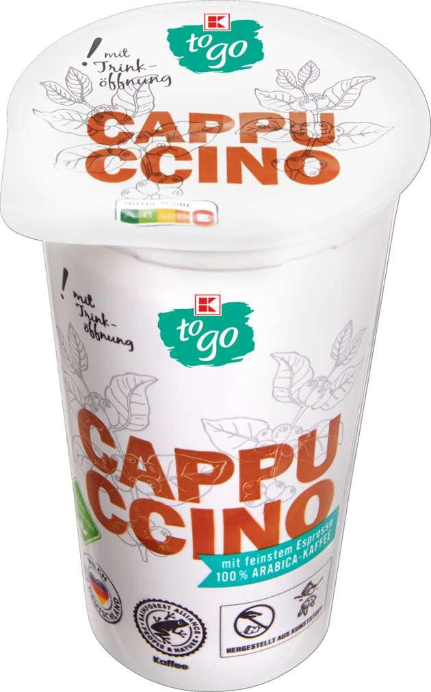 Abbildung des Sortimentsartikels K-To Go Cappuccino 1,5%  Fett 250ml