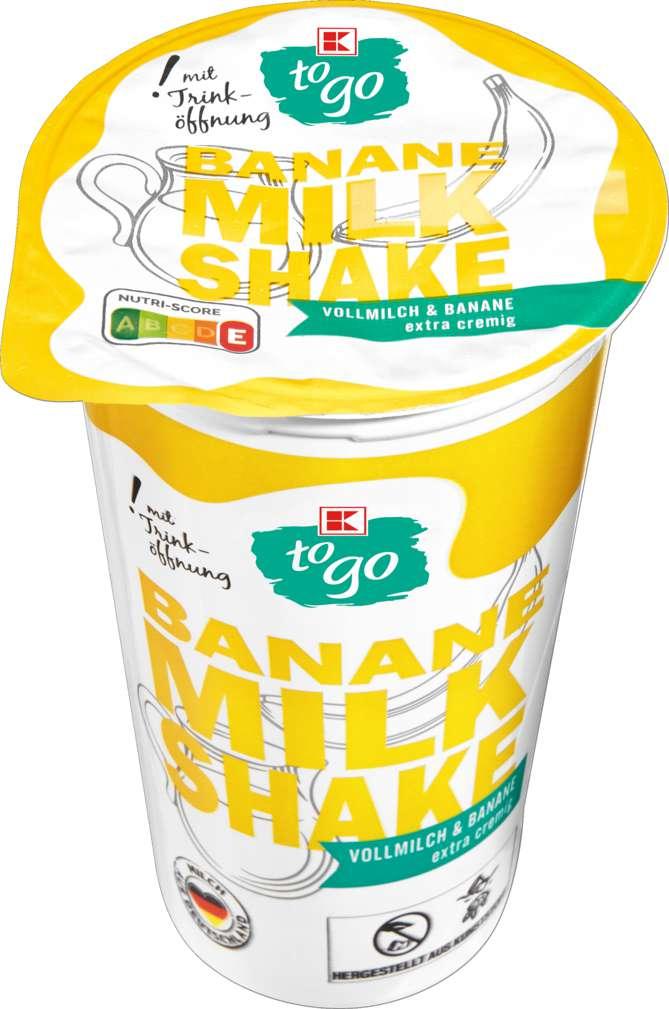 Abbildung des Sortimentsartikels K-To Go Milchshake Banane 230ml