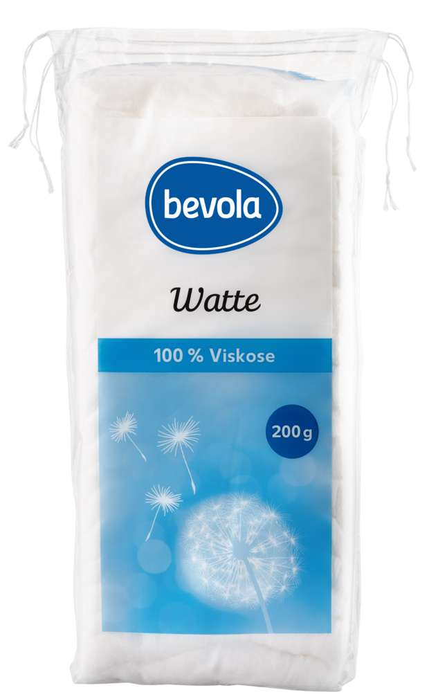 Abbildung des Sortimentsartikels Bevola Watte kompakt 200g