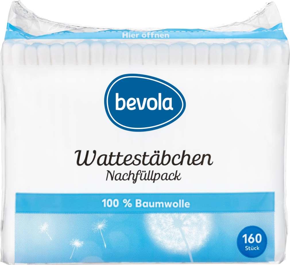 Abbildung des Sortimentsartikels Bevola Wattestäbchen Nachfüllpackung 160St