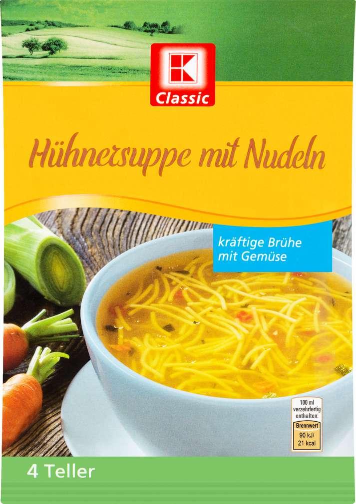 Abbildung des Sortimentsartikels K-Classic Suppe Huhn 69g