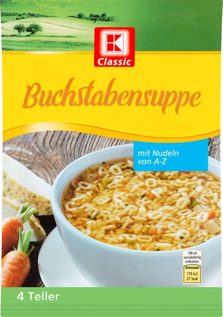 Abbildung des Sortimentsartikels K-Classic Suppe Buchstaben 81g