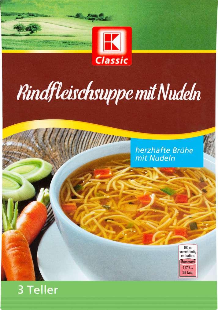Abbildung des Sortimentsartikels K-Classic Suppe Rind 63,5g