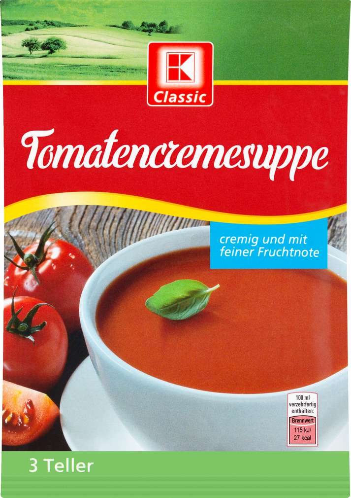 Abbildung des Sortimentsartikels K-Classic Suppe Tomatencreme 62g 3 Teller