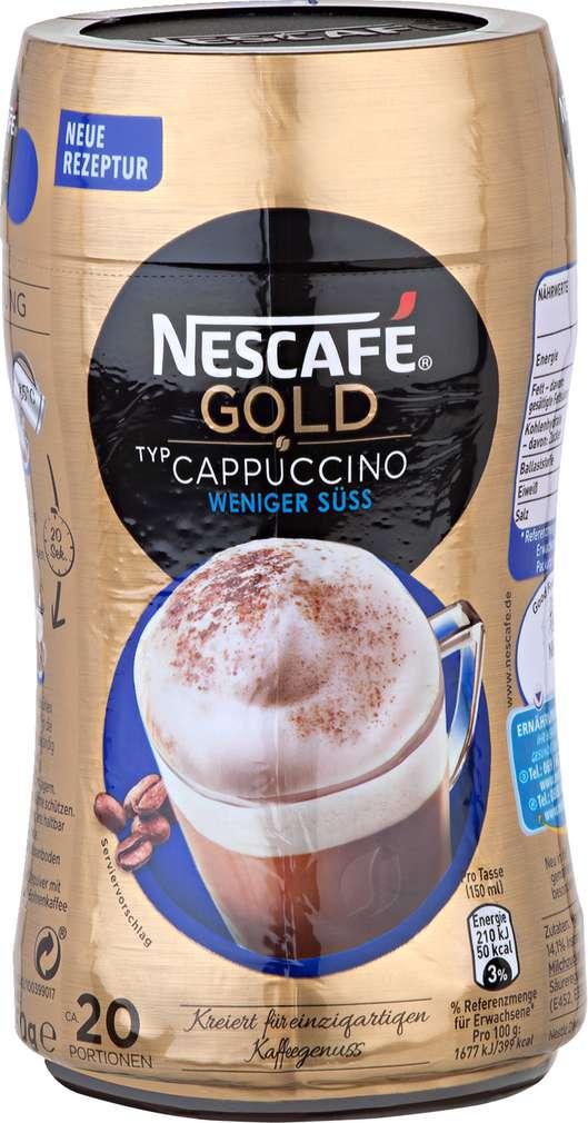 Abbildung des Sortimentsartikels Nescafé Gold Cappuccino weniger süß 250g