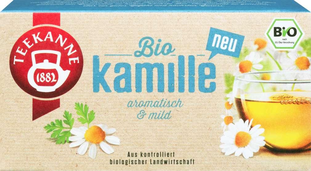 Abbildung des Sortimentsartikels Teekanne Bio - Kamille 18x1,5g