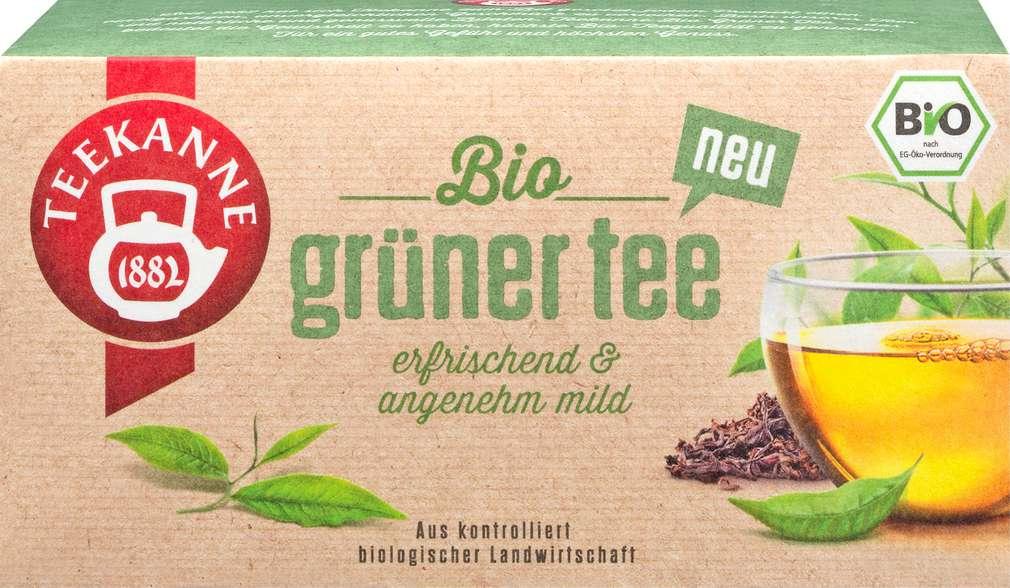 Abbildung des Sortimentsartikels Teekanne Bio - Grüner Tee 18x1,75g