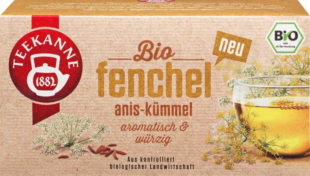 Abbildung des Sortimentsartikels Teekanne Bio-Fenchel/Anis/Kümmel 18x2,5g