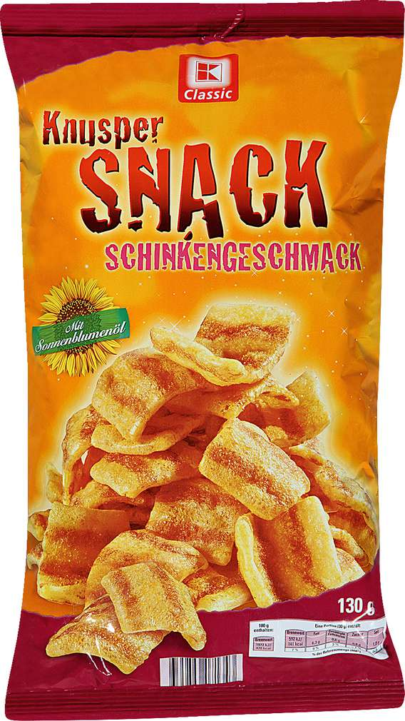 Abbildung des Sortimentsartikels K-Classic Knusper Snack Schinkengeschmack 130g