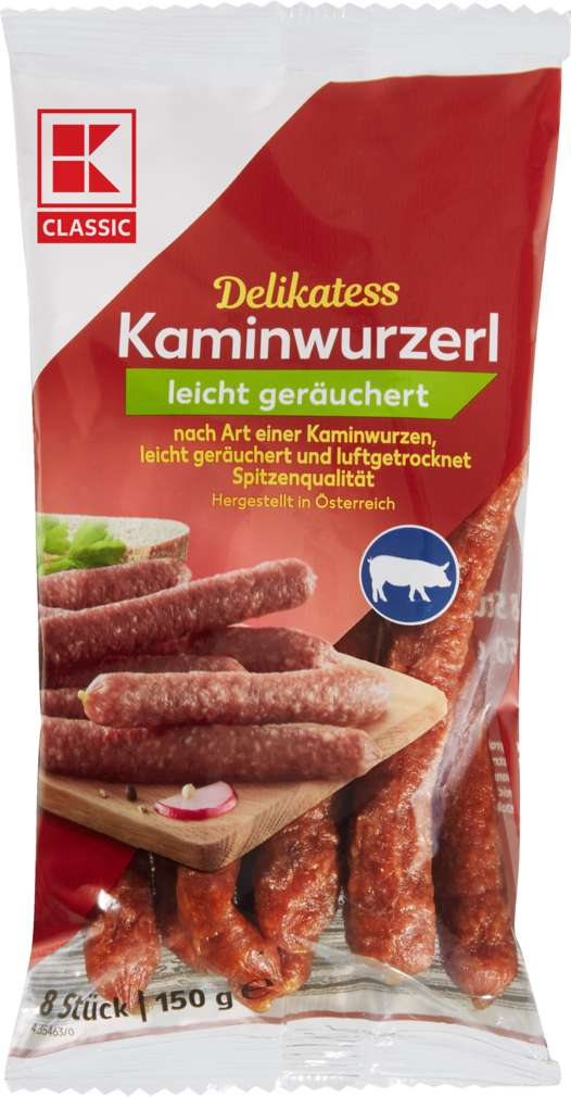 Abbildung des Sortimentsartikels K-Classic Kaminwurzerl geräuchert 150g