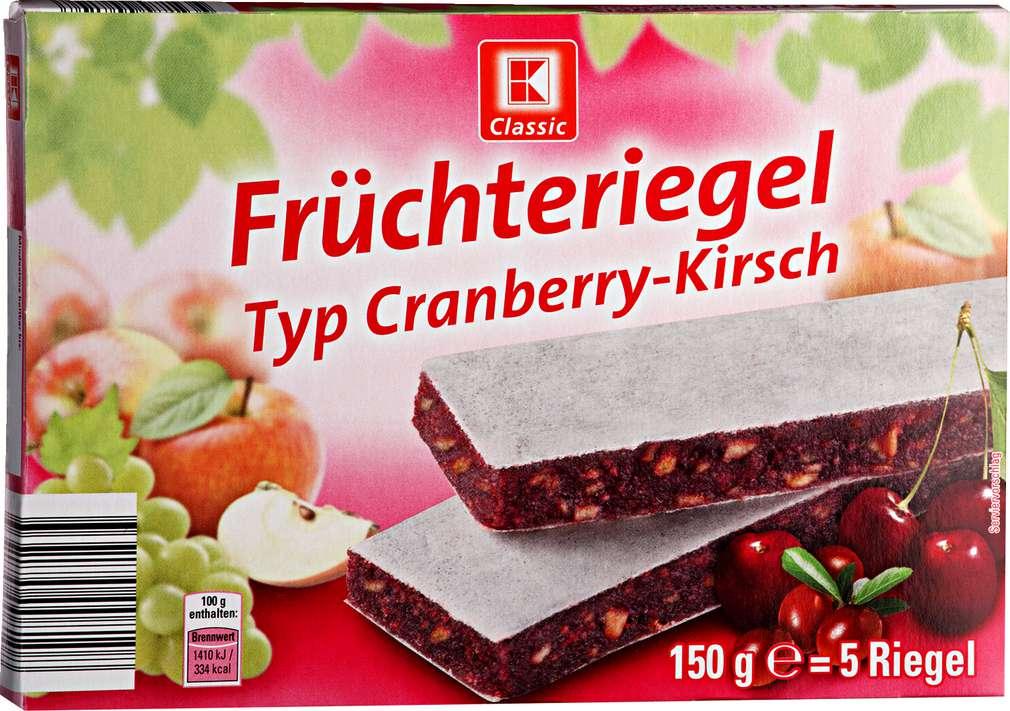 Abbildung des Sortimentsartikels K-Classic Früchteriegel Typ Cranberry-Kirsch 5x30g