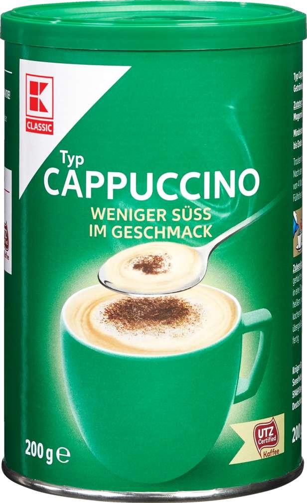 Abbildung des Sortimentsartikels K-Classic Cappuccino Weniger Süß 200g