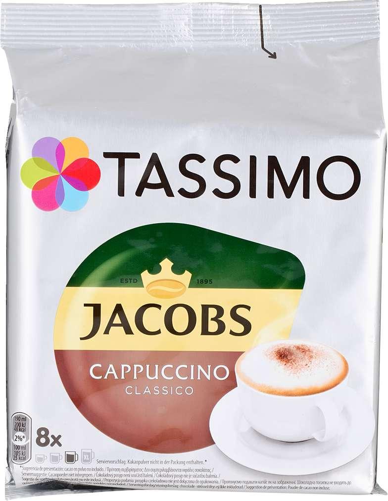 Abbildung des Sortimentsartikels Jacobs Tassimo Cappuccino Classico 260g, 2x8 Kapseln