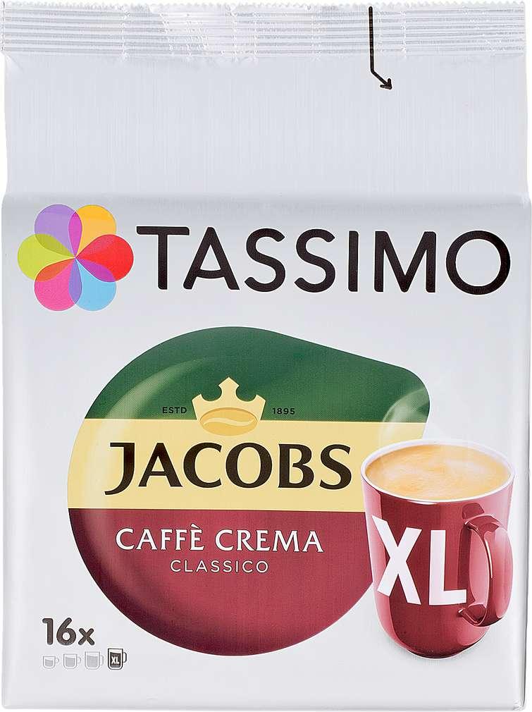 Abbildung des Sortimentsartikels Jacobs Tassimo Caffè Crema Classico XL 132,8g, 16 Kapseln
