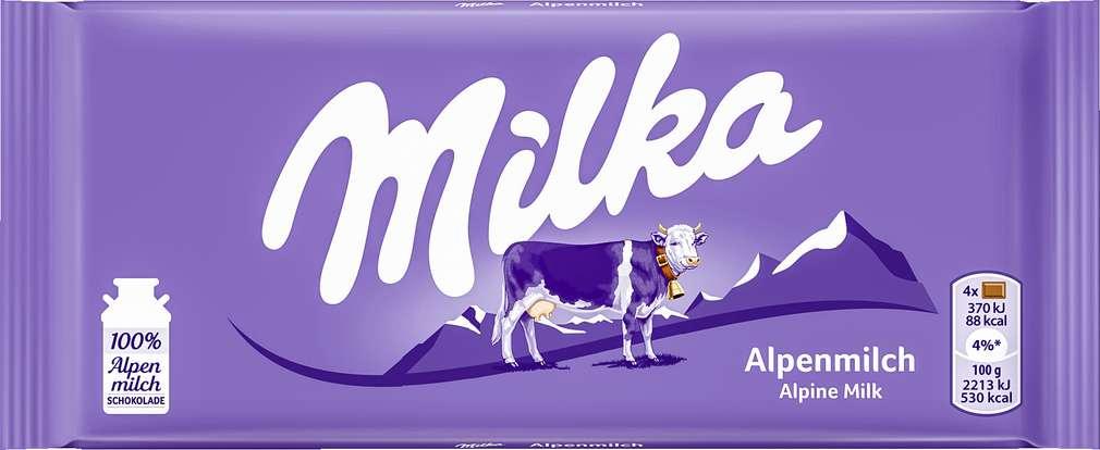 Abbildung des Sortimentsartikels Milka Alpenmilch Schokolade 100g