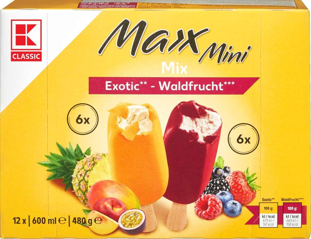 Abbildung des Sortimentsartikels K-Classic Mini Maxx Frucht Stieleis 12x50ml