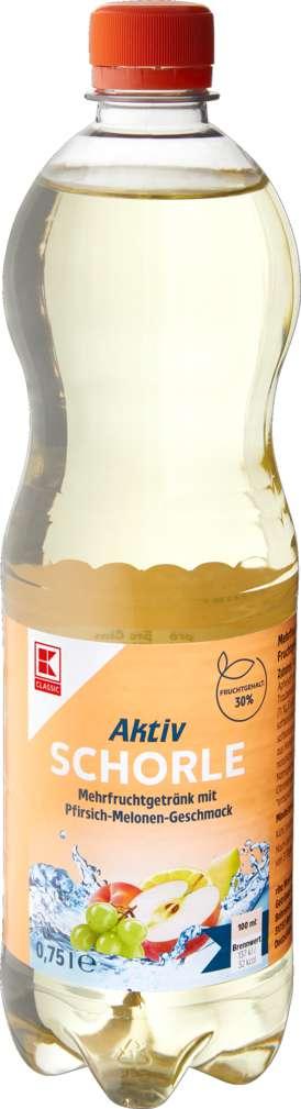 Abbildung des Sortimentsartikels K-Classic Aktivschorle Pfirsich-Melonen 0,75l