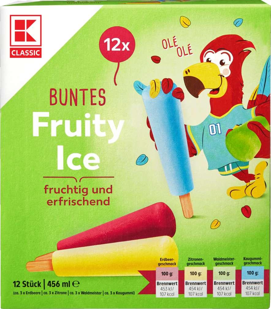 Abbildung des Sortimentsartikels K-Classic Fruity Ice buntes Wassereis 12x38ml