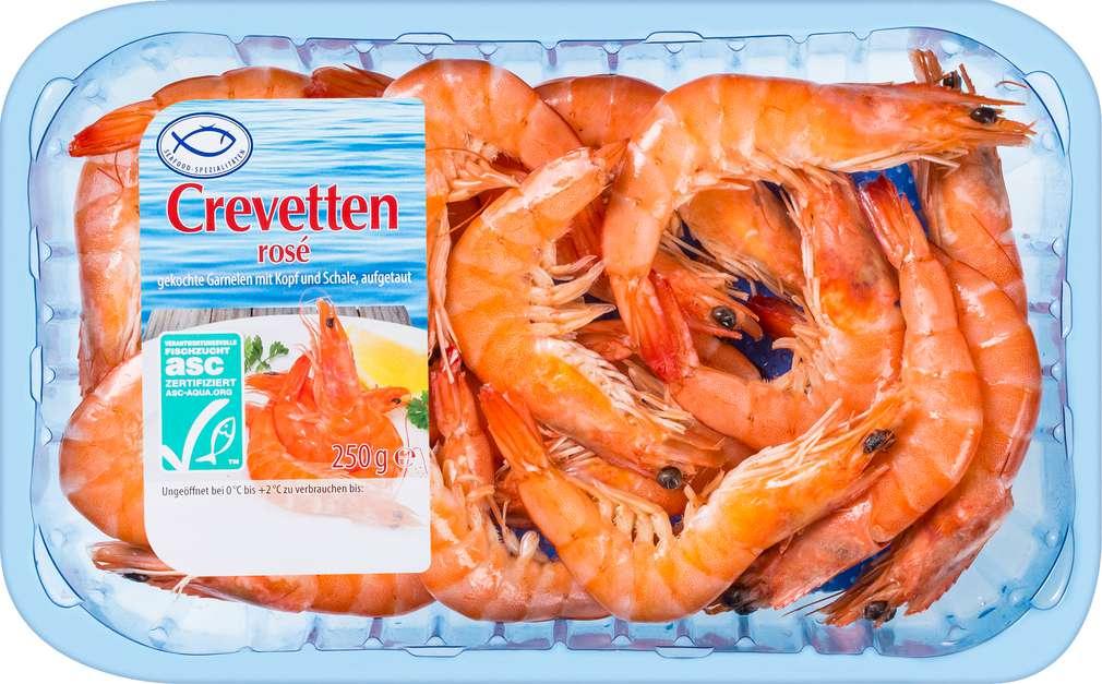 Abbildung des Sortimentsartikels Guba Trade Crevette rosé ASC-zertifiziert 250g