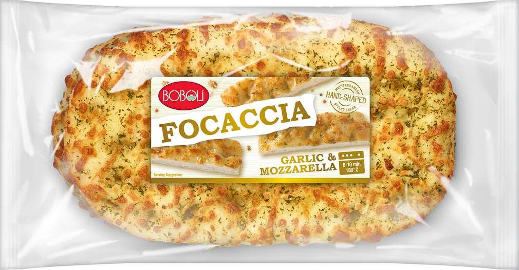 Abbildung des Sortimentsartikels Boboli Focaccia Kräuterbutter/Mozzarrella 2x150g