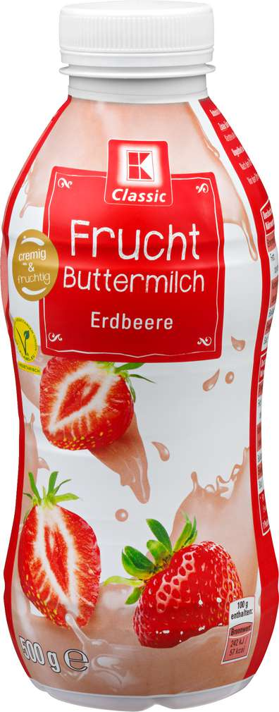 Abbildung des Sortimentsartikels K-Classic Fruchtbuttermilch Erdbeere 500g