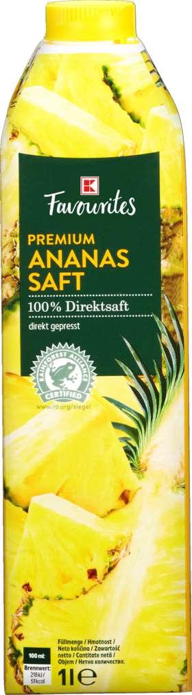 Abbildung des Sortimentsartikels K-Favourites Direktsaft Ananas 1,0l