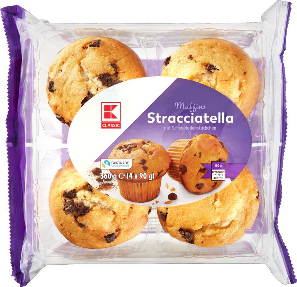 Abbildung des Sortimentsartikels K-Classic Muffins Stracciatella 4x90g = 360g