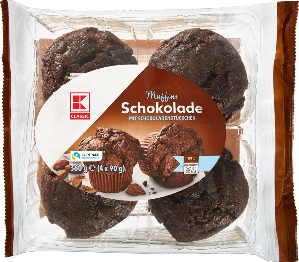 Abbildung des Sortimentsartikels K-Classic Muffins Schokolade 4x90g = 360g