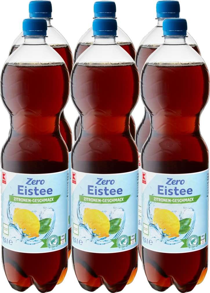 Abbildung des Sortimentsartikels K-Classic Eistee Zitrone Zero 6x1,5l