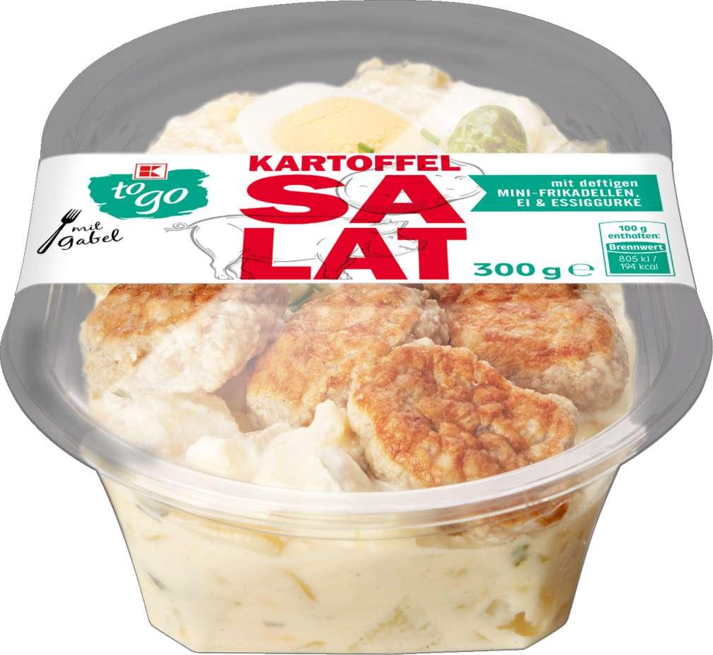 Abbildung des Sortimentsartikels K-To Go Kartoffelsalat mit Mini-Frikadelle 300g