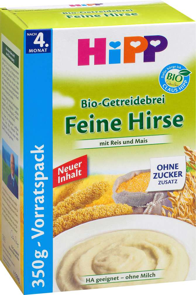 Abbildung des Sortimentsartikels Hipp Bio-Getreidebrei Feine Hirse 350g