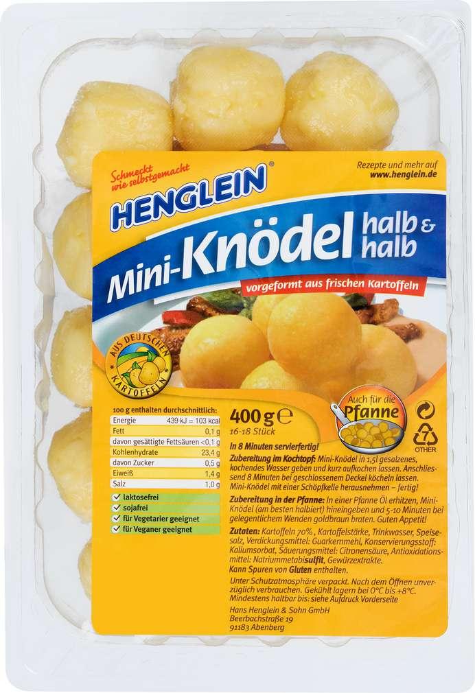 Abbildung des Sortimentsartikels Henglein Mini-Knödel halb & halb 400g