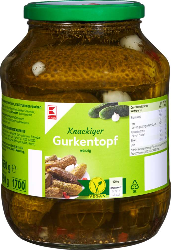 Abbildung des Sortimentsartikels K-Classic Gurkentopf würzig 1550g