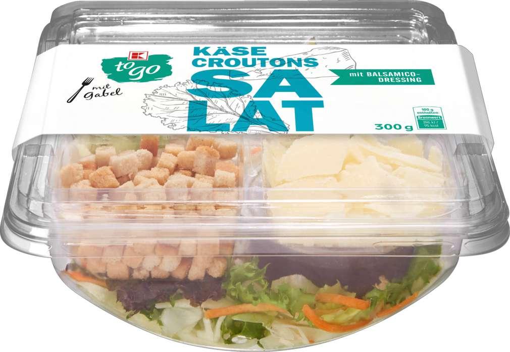 Abbildung des Sortimentsartikels K-To Go Salat Croutons Hartkäse 300g