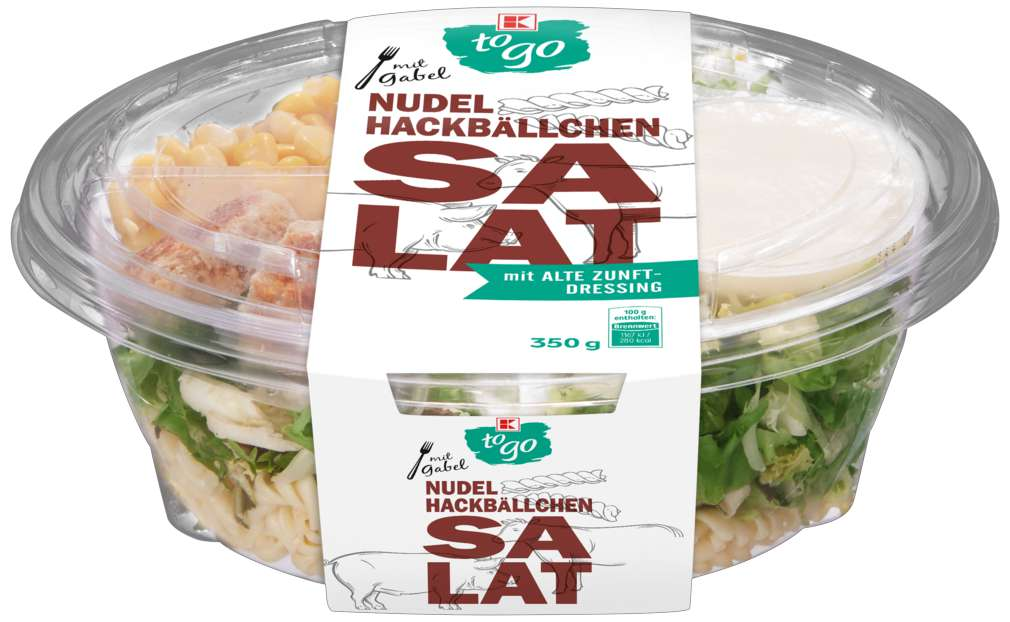 Abbildung des Sortimentsartikels K-To Go Salat Nudeln Hackbällchen 350g