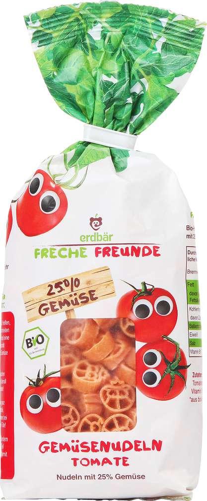 Abbildung des Sortimentsartikels Erdbär Freche Freunde Bio Nudeln Tomate 300g