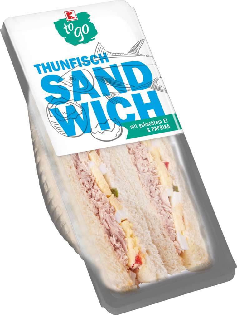 Abbildung des Sortimentsartikels K-To Go Sandwich Thunfisch 185g